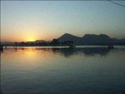 Sunset Fateh Sagar